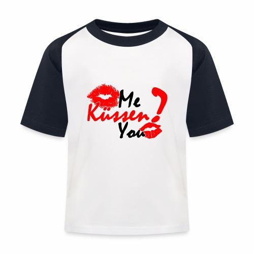 Küss mich - Kinder Baseball T-Shirt