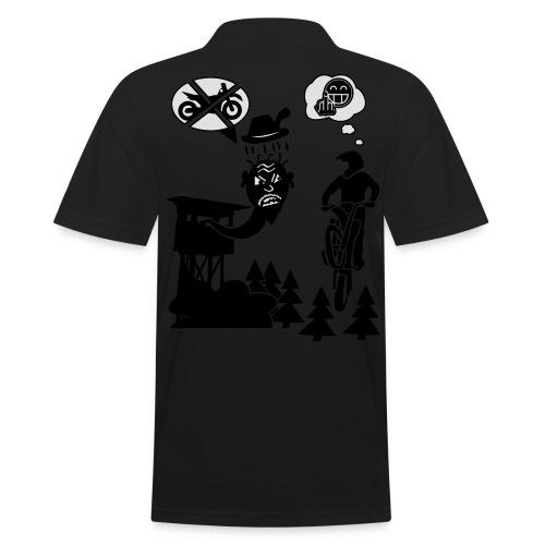 Biker vs. Hunter back HQ colour - Männer Poloshirt