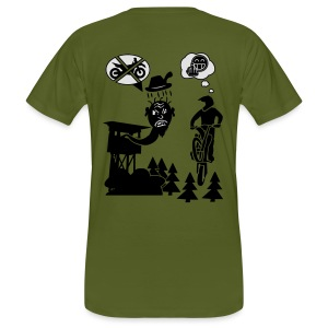 Biker vs. Hunter back HQ colour - Männer Bio-T-Shirt