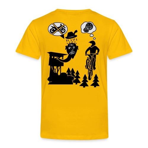 Biker vs. Hunter back HQ colour - Kinder Premium T-Shirt