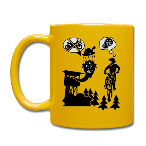 Biker vs. Hunter back HQ colour - Tasse einfarbig