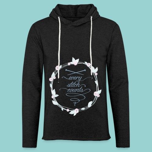 Every stitch counts - Leichtes Kapuzensweatshirt Unisex
