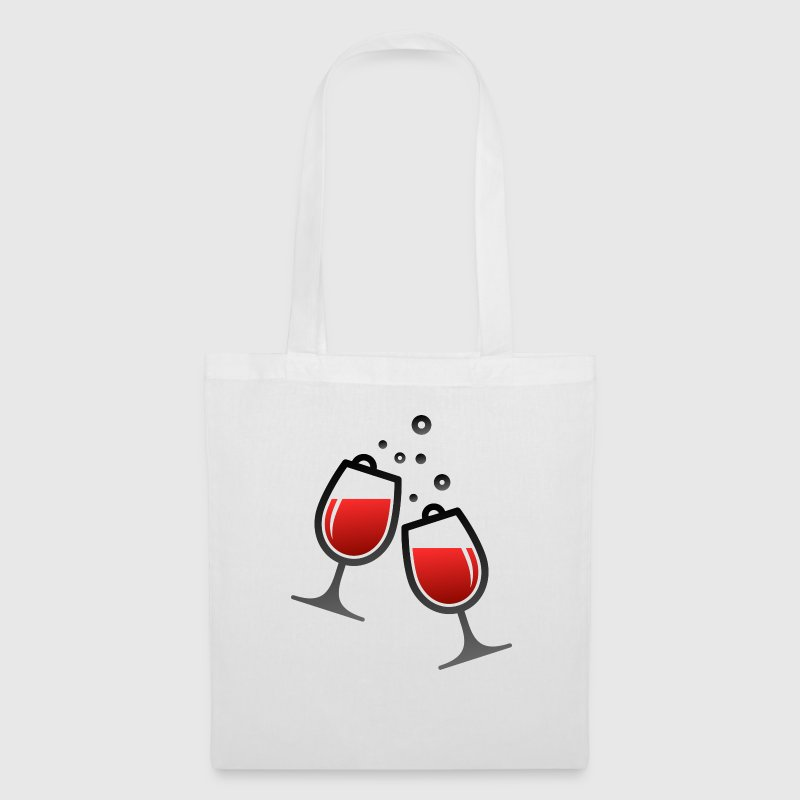 Two wine glasses Bags & Backpacks - Tote Bag