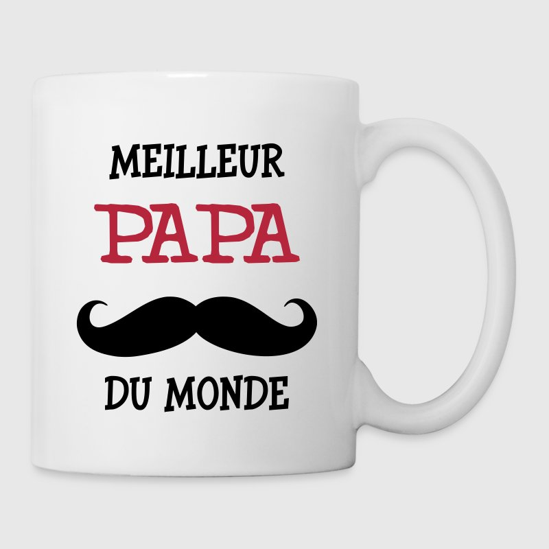 tasse meilleur papa du monde spreadshirt. Black Bedroom Furniture Sets. Home Design Ideas