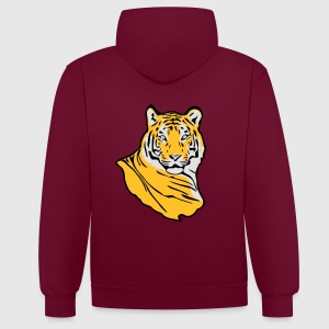 Tiger T-shirts - Contrast hoodie