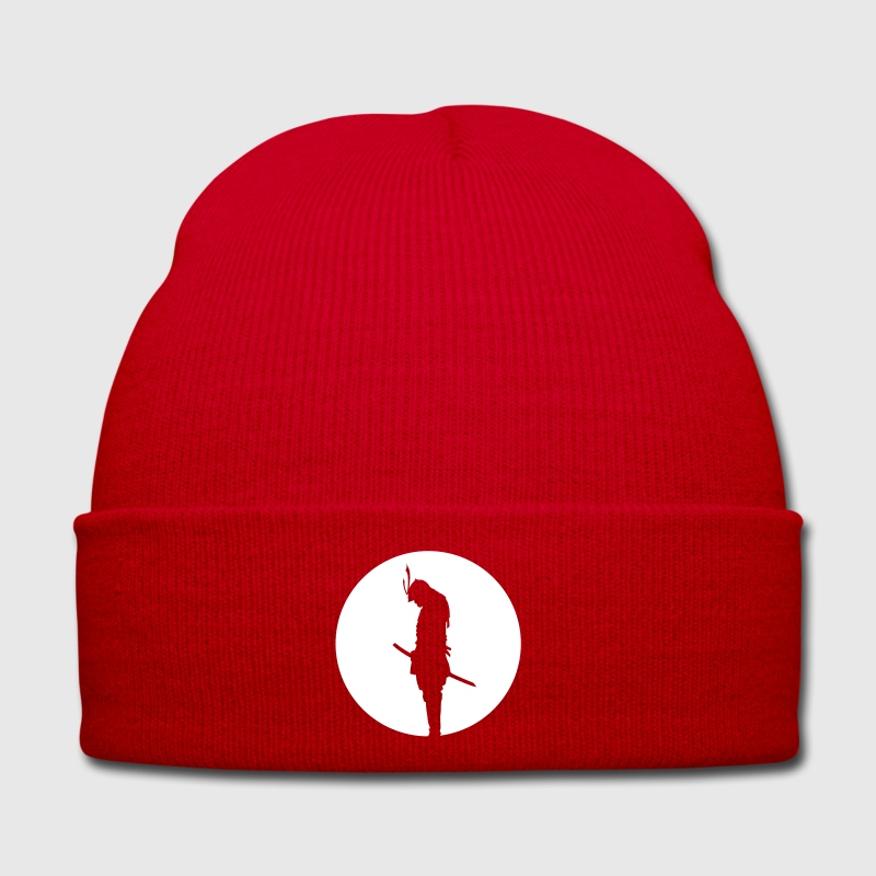 Japan Samurai Warrior - silhouette (Japan flag) Caps & Hats - Winter Hat