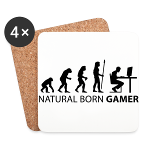 Natural Born Gamer - Light - Coasters (set of 4)