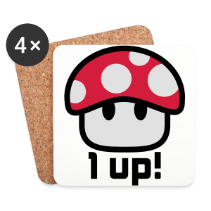 1-up - Coasters (set of 4)