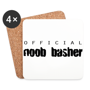 Official Noob Basher - Coasters (set of 4)