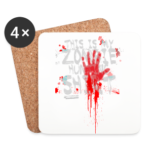 Zombie Shirt - Coasters (set of 4)