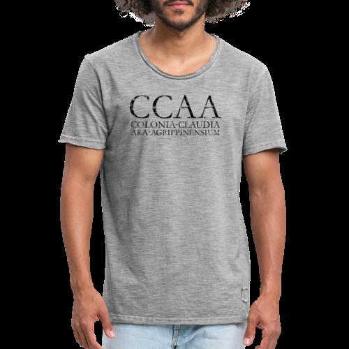 CCAA Colonia Claudia Ara Agrippinensium (Vintage Schwarz) Köln - Männer Vintage T-Shirt