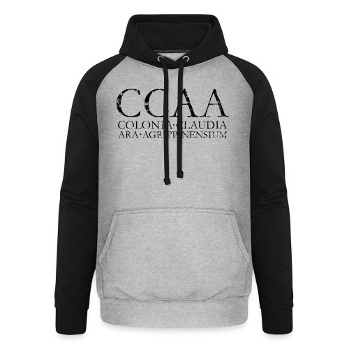 CCAA Colonia Claudia Ara Agrippinensium (Vintage Schwarz) Köln - Unisex Baseball Hoodie