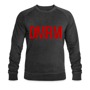 DMRM Large & Text on Back - Men's Organic Sweatshirt by Stanley & Stella