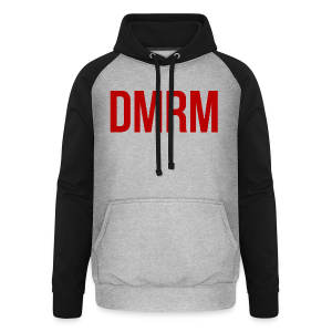 DMRM Large & Text on Back - Unisex Baseball Hoodie