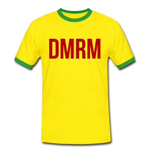 DMRM Large & Text on Back - Men's Ringer Shirt