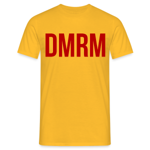DMRM Large & Text on Back - Men's T-Shirt