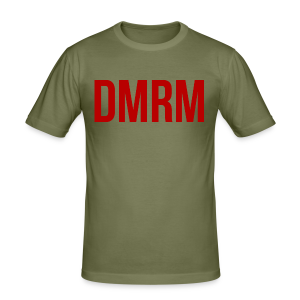 DMRM Large & Text on Back - Men's Slim Fit T-Shirt