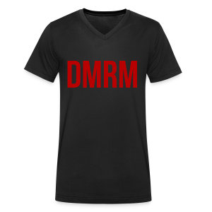 DMRM Full White on Back - Men's Organic V-Neck T-Shirt by Stanley & Stella