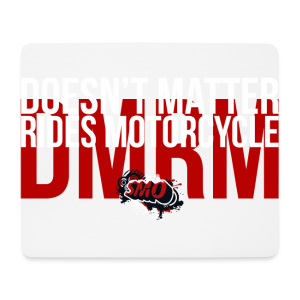 DMRM Full White on Back - Mouse Pad (horizontal)