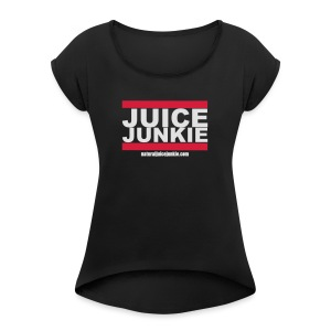 Old School Junkie Tee (Ladies) - Women's T-shirt with rolled up sleeves