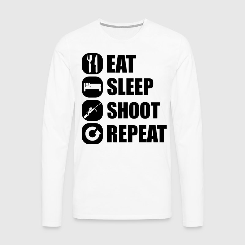 eat_sleep_weapon_repeat_6_1f Skjorter med lange armer - Premium langermet T-skjorte for menn