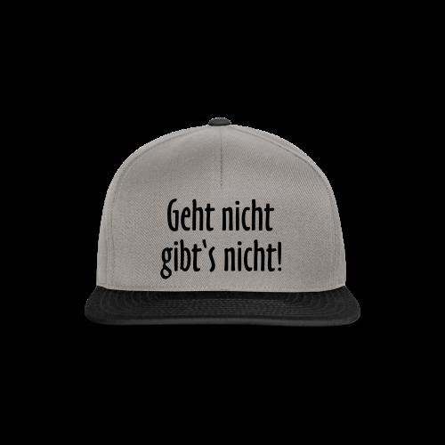 Geht nicht gibt's nicht T-Shirt (Damen Weiß/Schwarz) - Snapback Cap