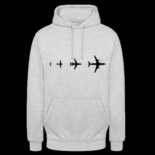 Flugzeug Evolution Shirt - Unisex Hoodie