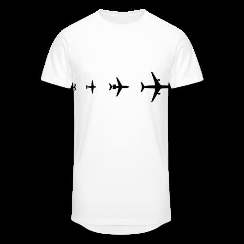 Flugzeug Evolution Shirt - Männer Urban Longshirt