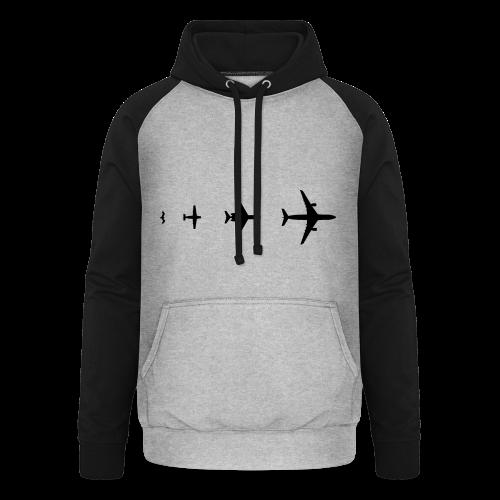 Flugzeug Evolution Shirt - Unisex Baseball Hoodie