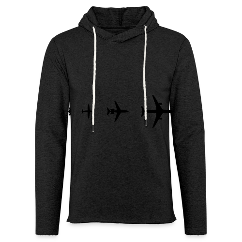 Flugzeug Evolution Shirt - Leichtes Kapuzensweatshirt Unisex