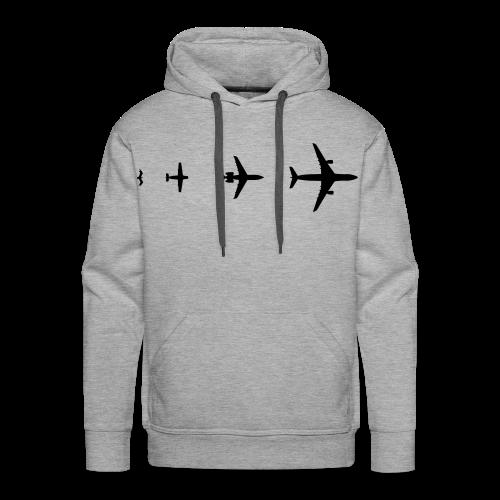 Flugzeug Evolution Shirt - Männer Premium Hoodie