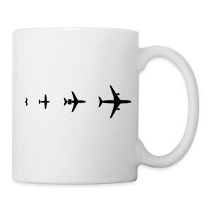 Flugzeug Evolution Shirt - Tasse