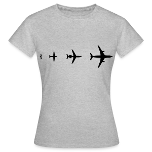 Flugzeug Evolution Shirt - Frauen T-Shirt