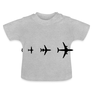 Flugzeug Evolution Shirt - Baby T-Shirt
