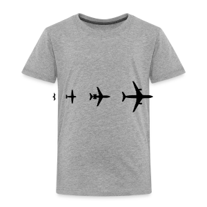 Flugzeug Evolution Shirt - Kinder Premium T-Shirt
