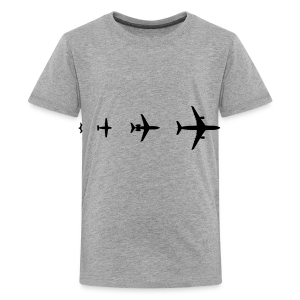 Flugzeug Evolution Shirt - Teenager Premium T-Shirt