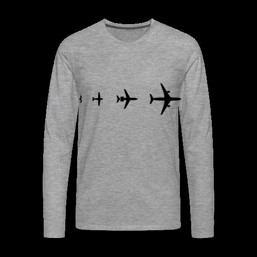 Flugzeug Evolution Shirt - Männer Premium Langarmshirt