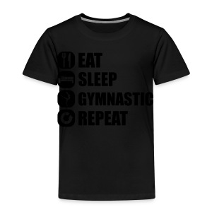 eat_sleep_gymnastic_repeat_5_1f Shirts met lange mouwen - Kinderen Premium T-shirt