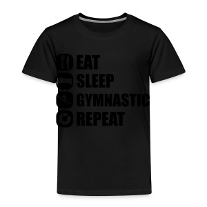 eat_sleep_gymnastic_repeat_2_1f Baby body - Kinderen Premium T-shirt