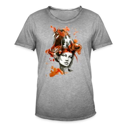 Tora by carographic, Carolyn Mielke - Männer Vintage T-Shirt