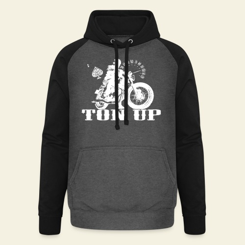 Ton Up white  - Unisex baseball hoodie
