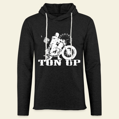 Ton Up white  - Let sweatshirt med hætte, unisex