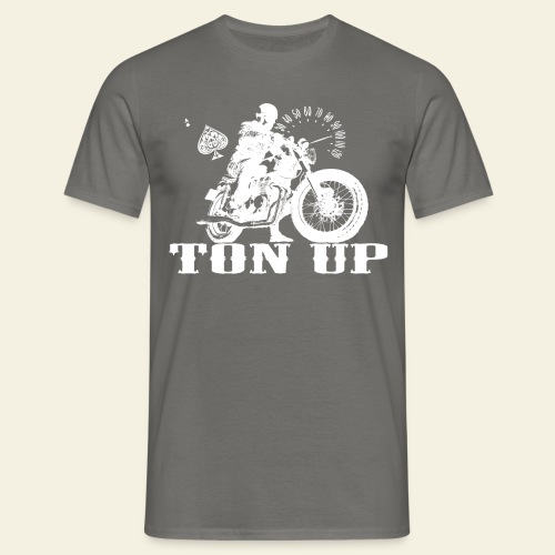 Ton Up white  - Herre-T-shirt