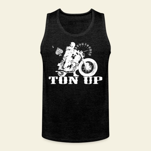 Ton Up white  - Herre Premium tanktop