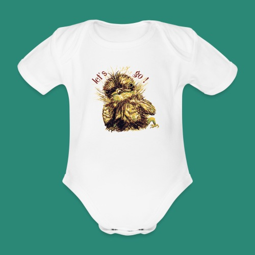 Lets go ,Thermotasse - Baby Bio-Kurzarm-Body