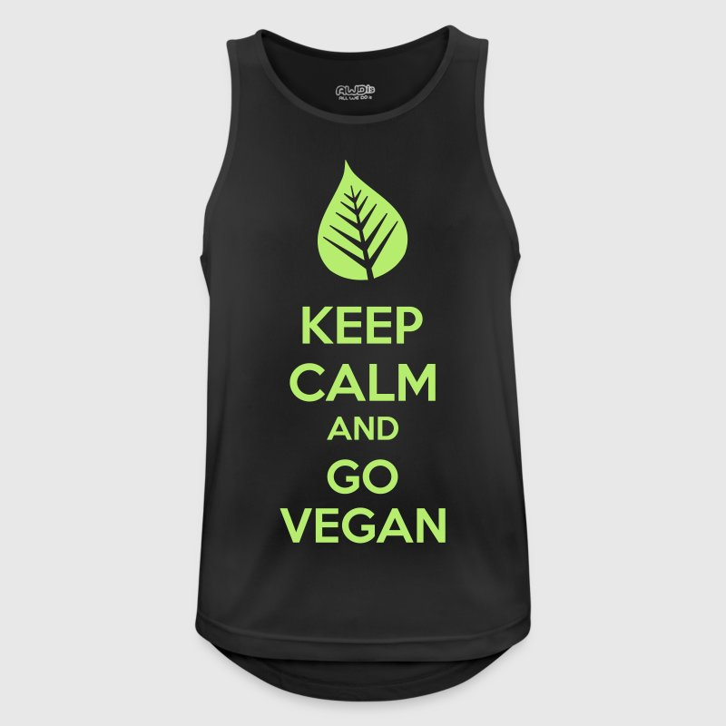 Keep Calm And Go Vegan Ropa deportiva - Camiseta sin mangas hombre transpirable