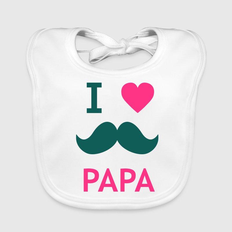 i love papa Accessoires - Bavoir bio Bébé