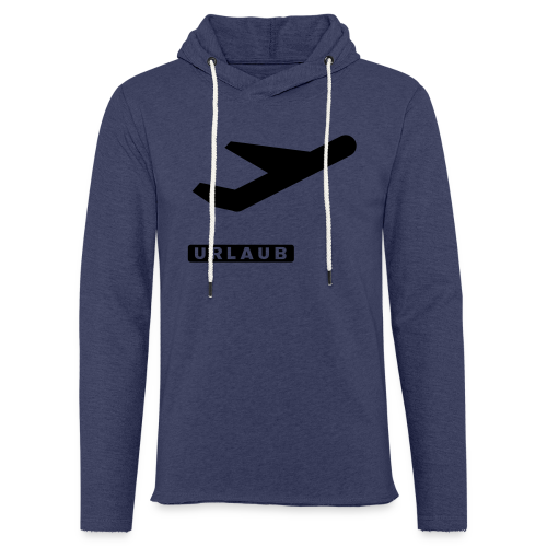 departure Abflug Symbol Shirt - Leichtes Kapuzensweatshirt Unisex