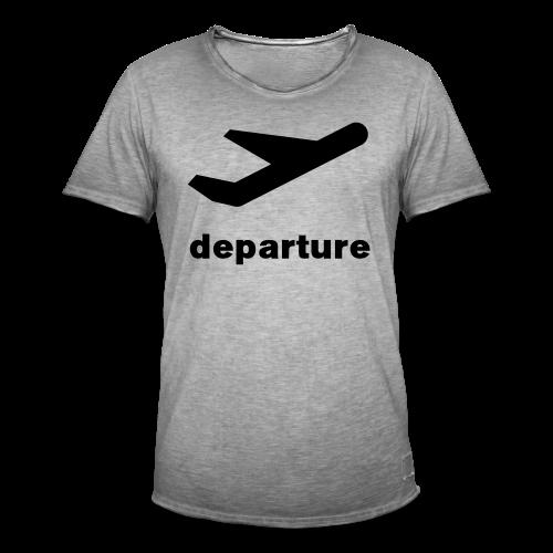 departure Abflug Symbol Shirt - Männer Vintage T-Shirt