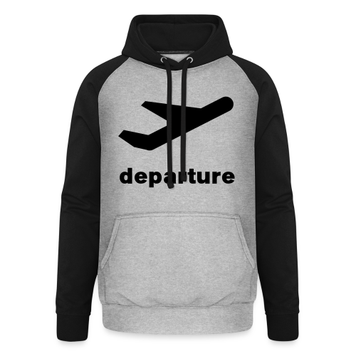 departure Abflug Symbol Shirt - Unisex Baseball Hoodie